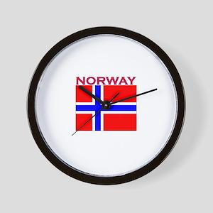 Norway Flag Wall Clock