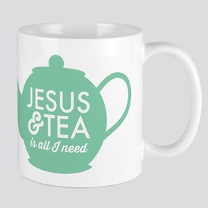 All I Need is Jesus and Tea Mugs