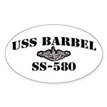 USS BARBEL Sticker (Oval)