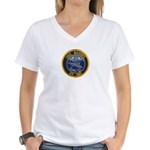 USS BARBEL Women's V-Neck T-Shirt