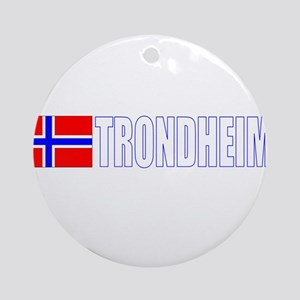 Trondheim, Norway Ornament (Round)