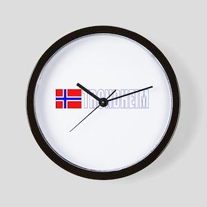 Trondheim, Norway Wall Clock