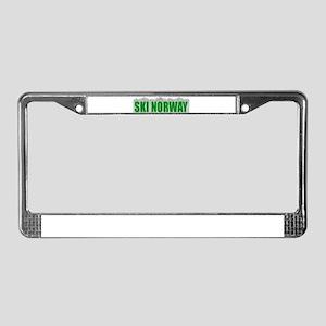 Ski Norway License Plate Frame