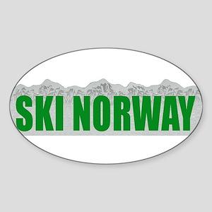 Ski Norway Oval Sticker