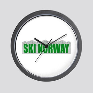 Ski Norway Wall Clock