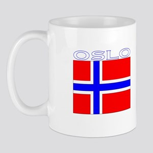 Oslo, Norway Flag (Dark) Mug