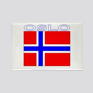 Oslo, Norway Flag (Dark) Rectangle Magnet