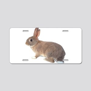 Fluffy Bunny Aluminum License Plate