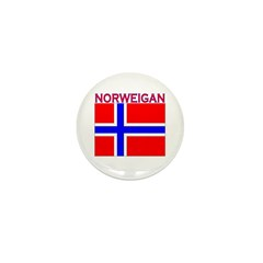 Norweigan Flag Mini Button (10 pack)