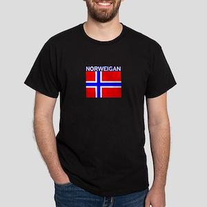 Norweigan Flag (Dark) Dark T-Shirt