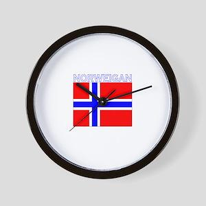 Norweigan Flag (Dark) Wall Clock