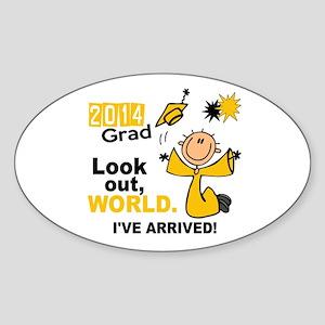 2014 Stick Grad 1.1 Gold Sticker (Oval)