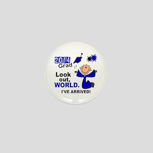 2014 Stick Grad 1.1 Blue Mini Button