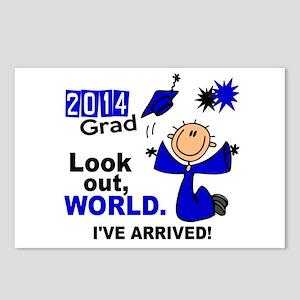 2014 Stick Grad 1.1 Blue Postcards (Package of 8)