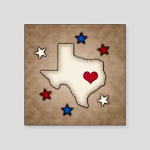 Texas Red Heart Sticker