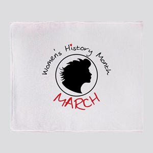Women's History Month MARCH Throw Blanket