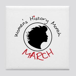 Women's History Month MARCH Tile Coaster