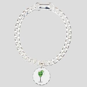 Shamrock Wine Bracelet