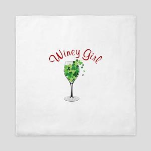 Winey Girl Queen Duvet