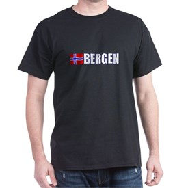 Bergen, Norway Flag II (Dark) T-Shirt