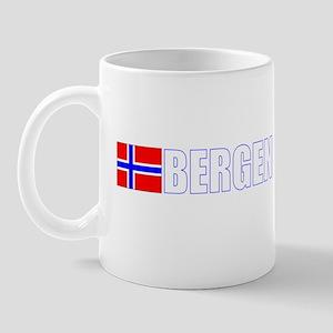 Bergen, Norway Flag II (Dark) Mug