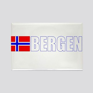 Bergen, Norway Flag II (Dark) Rectangle Magnet