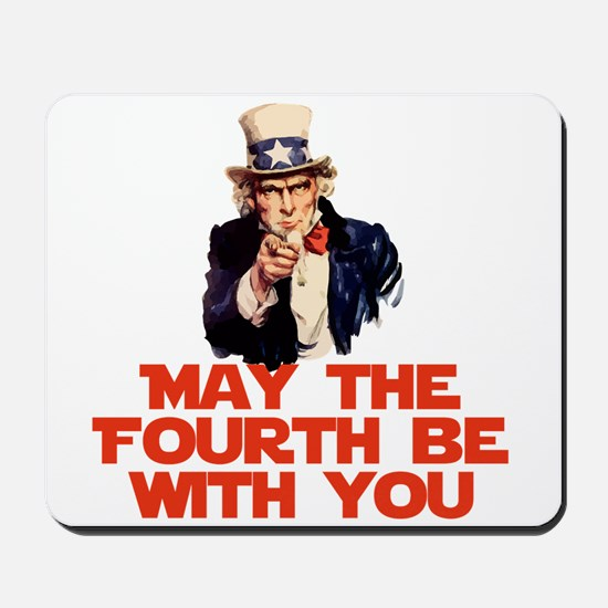May The Fourth Be With You Mousepad