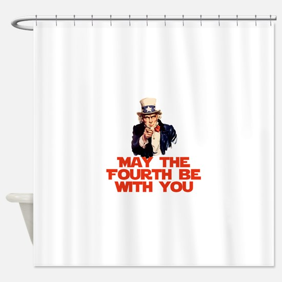 May The Fourth Be With You Shower Curtain