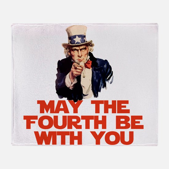 May The Fourth Be With You Throw Blanket