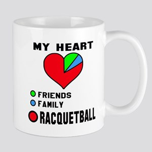My Heart Friends, Family and Rac 11 oz Ceramic Mug