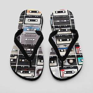 Cassette Tapes Flip Flops