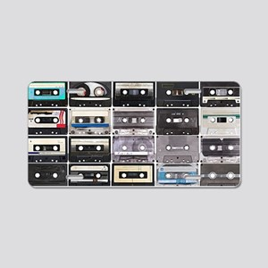 Cassette Tapes Aluminum License Plate