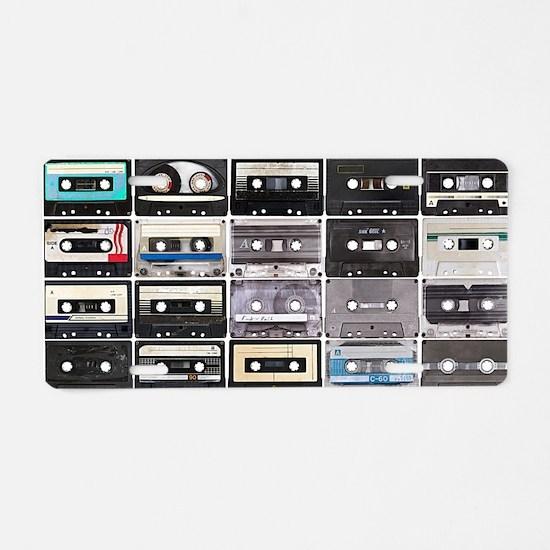 Cassette Tapes Aluminum License Plate
