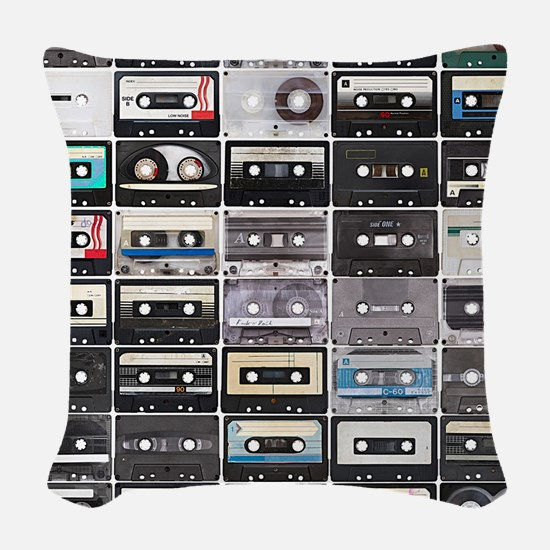 Cassette Tapes Woven Throw Pillow