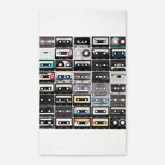 Cassette Tapes 3'x5' Area Rug