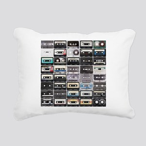 Cassette Tapes Rectangular Canvas Pillow