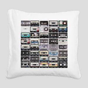 Cassette Tapes Square Canvas Pillow