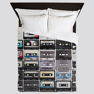 Cassette Tapes Queen Duvet