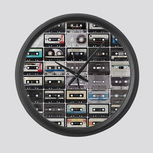 Cassette Tapes Large Wall Clock