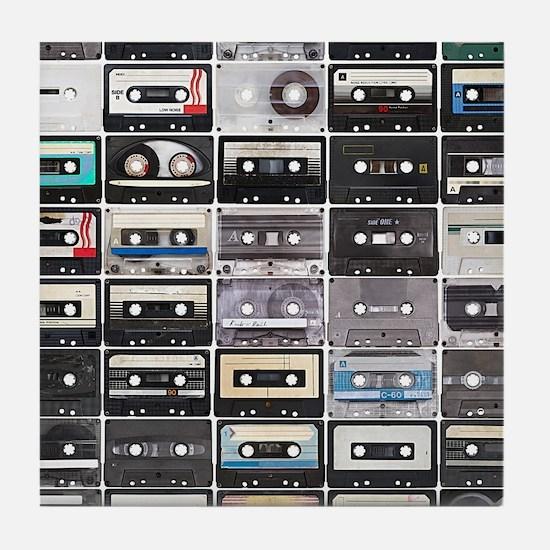 Cassette Tapes Tile Coaster