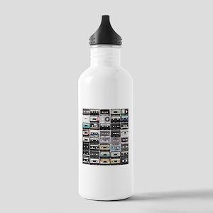 Cassette Tapes Water Bottle
