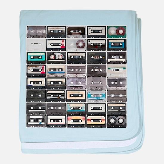 Cassette Tapes baby blanket