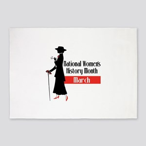 national Women's History month march 5'x7'Area Rug