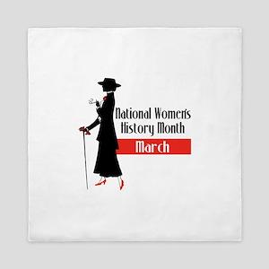 national Women's History month march Queen Duvet