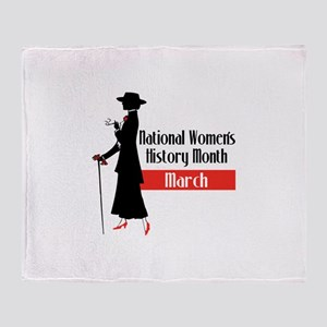 national Women's History month march Throw Blanket
