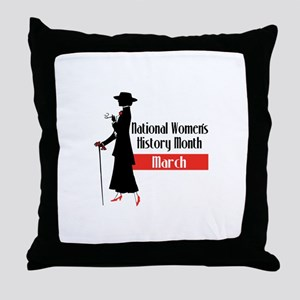 national Women's History month march Throw Pillow