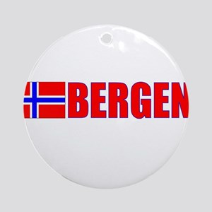 Bergen, Norway Ornament (Round)