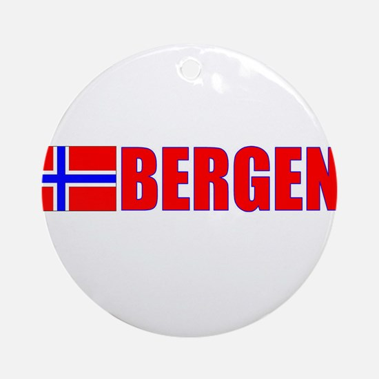 Bergen, Norway Ornament (Round)