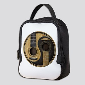 Old And Worn Acoustic Guitars Neoprene Lunch Bag
