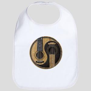 Old and Worn Acoustic Guitars Yin Yang Bib